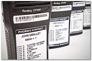 Two Way Radio Rentals-Labeling